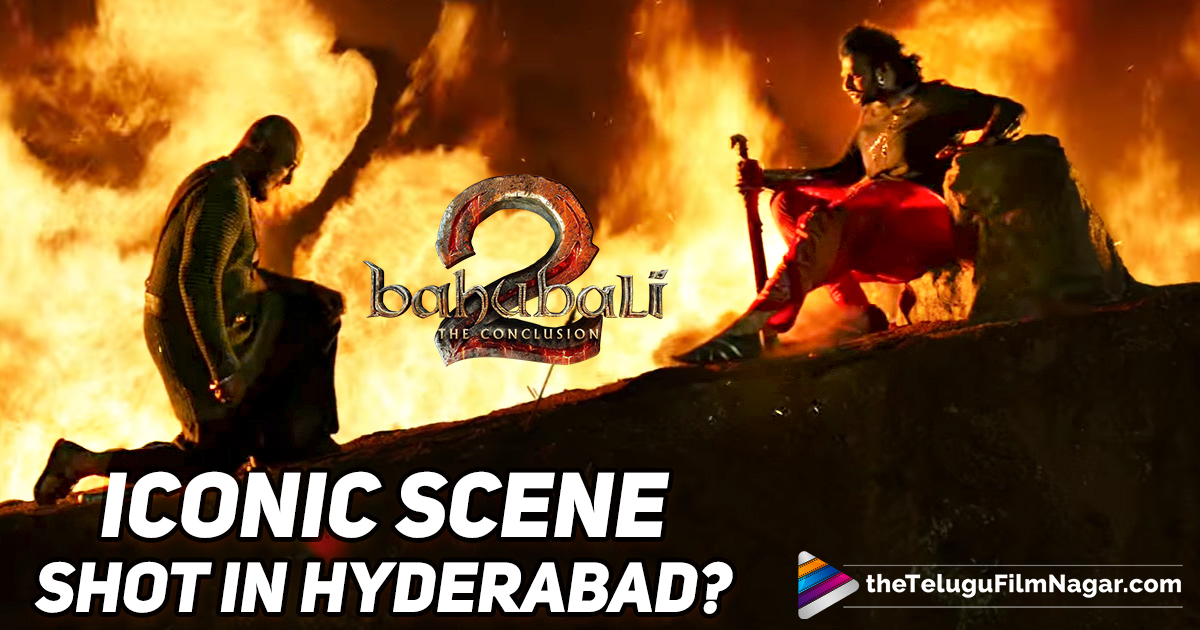 Baahubali Iconic Scene Shot In Hyderabad,Telugu Filmnagr,Telugu Movie Updates 2017,Beautiful Shooting Location of Baahubali 2 Movie,Baahubali 2 Movie Updates,Baahubali 2 Shooting in Hyderabad