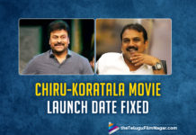 #CHIRU152 Gets Confirm Date To Begin Movie Shooting,Latest Telugu Movies News,Telugu Film News 2019, Telugu Filmnagar, Tollywood Cinema Updates,Chiranjeevi Koratala Siva Film Launch Date Fixed,Chiranjeevi 152 Movie Shooting Date,Chiranjeevi New Movie Details