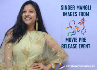 Singer Mangli Images From Swecha Movie Pre Release Event