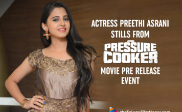 Actress Preethi Asrani Stills From Pressure Cooker Movie Pre Release Event