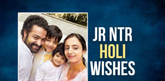 On the occasion of Holi, Jr NTR wishes his fans with an adorable family pic