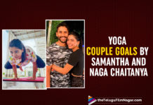 Samantha And Naga Chaitanya Are Performing Couple Yoga