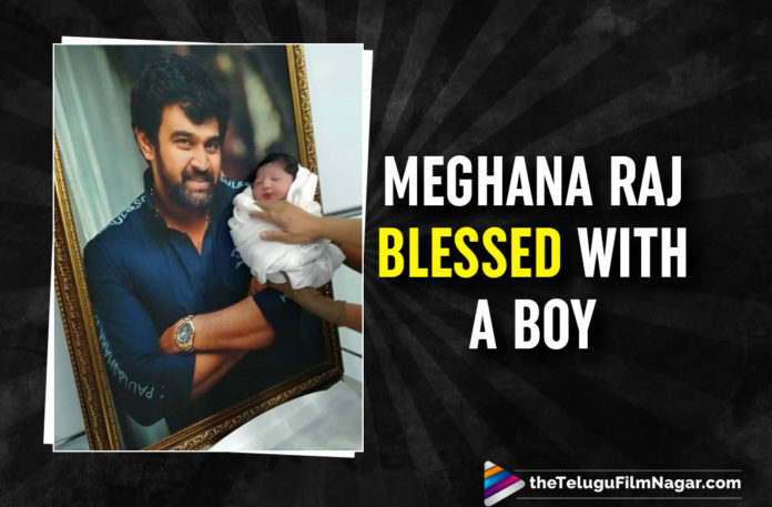 Late Actor Chiranjeevi Sarja And Megahana Raj Are Blessed With A Baby Boy