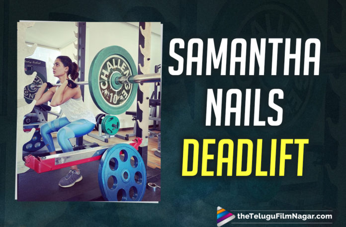 Samantha Akkineni Nails The Barbell Squat In This Latest Workout Pictures