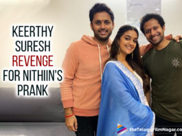 Actor Nithiin, Actress Keerthy Suresh, Hero Nithiin, Hero Nithiin Prank On Keerthy Suresh On Rang De Sets, Heroine Keerthy Suresh, Keerthy Suresh, Keerthy Suresh Says Next Target Is Nithiin, Keerthy Suresh Takes Revenge On Director Venky Atluri, Keerthy Suresh Takes Revenge On Director Venky Atluri After The Prank, latest telugu movies news, Latest Tollywood News, Nithiin, Nithiin Prank On Keerthy Suresh, Nithiin Silly Prank On Keerthy Suresh On Rang De Sets, Rang De, Rang De Keerthy Suresh, Rang De Movie, Rang De Movie Latest Reports, Rang De Movie Latest Updates, Rang De Movie Shooting Update, Rang De Movie Update, Rang De Sets, Rang De Telugu Movie, Telugu Film News 2020, Telugu Filmnagar, Tollywood Movie Updates
